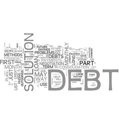 Is there a way out of your debt problems text vector