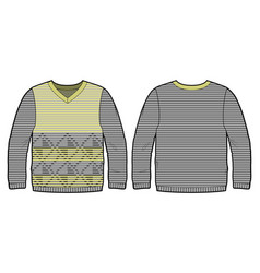 knitted pullover with pattern vector image