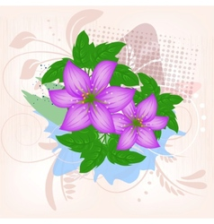 lily flower decoration vector image vector image