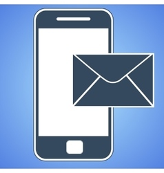 mail smartphone icon vector image
