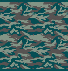 Military camouflage seamless pattern three colors vector