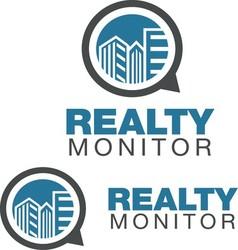 REALTY MONITOR LOGO vector image vector image