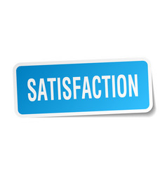 Satisfaction square sticker on white vector
