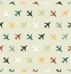 seamless pattern with color planes for kids vector image