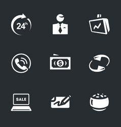set of broker work icons vector image vector image