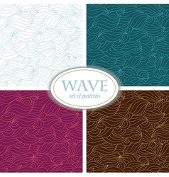 Set of Seamless Waves Patterns vector image