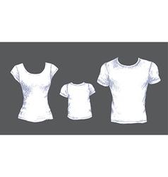 Tshirts white vector