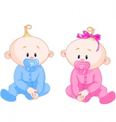 two babies vector image vector image