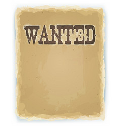 Wanted poster on vintage background vector