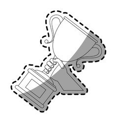 Winner trophy icon vector
