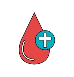 Blood drop isolated icon vector