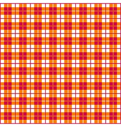 Seamless gingham red and orange vector
