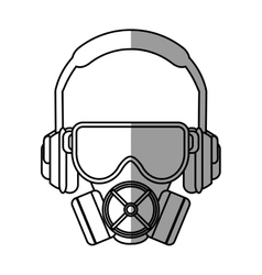 Mask glasses and headphone design vector