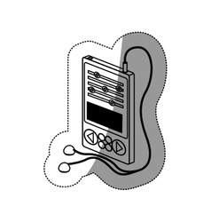 Isolated mp3 device design vector