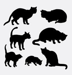 Cat pet animal silhouette vector