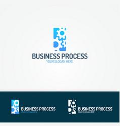 Business process logo set consisting of three gear vector