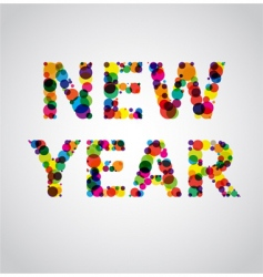 new year colors vector image