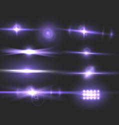 Lens flare transparent flare effect set vector