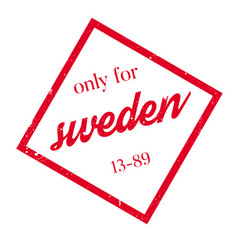 Only for sweden rubber stamp vector