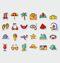Pictogram with recreation travel and vacation vector