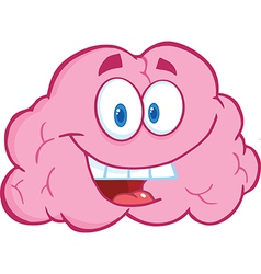 Brain cartoon character vector