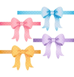 Polka dot bow set vector