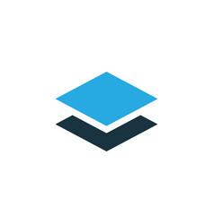 layer colorful icon symbol premium quality vector image