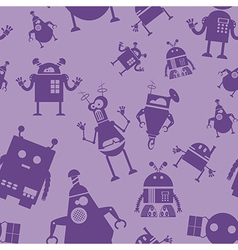 Robot seamless pattern vector