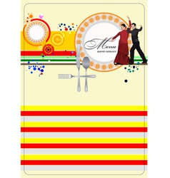 Al 0329 spanish restaurant menu vector