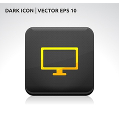 Monitor screen icon gold vector