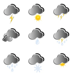 Icon for weather forecast vector