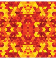 Triangular mosaic orange background vector