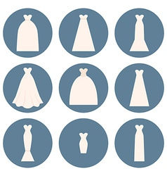 Wedding dress style vector