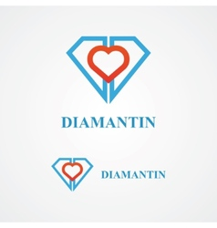 Design diamond logo element vector image