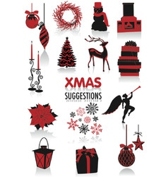 Christmas silhouettes vector