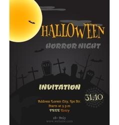 Happy halloween party poster flyer banner vector