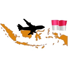 Fly me to the indonesia vector