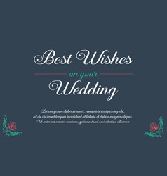 Beauty invitation for wedding collection vector