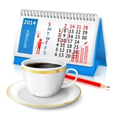 Business sketch on calendar vector image vector image