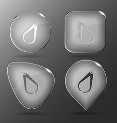 Caliper glass buttons vector