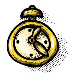 cartoon image of clock icon time symbol vector image vector image