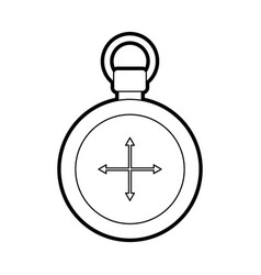 compass symbol of tourism adventure travel camping vector image vector image