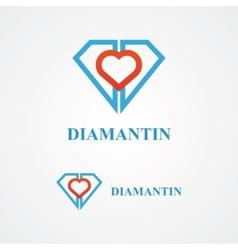 Design diamond logo element vector