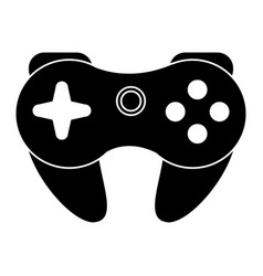 gamepad control console pictogram vector image
