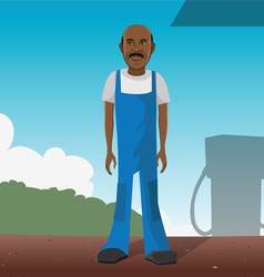 gas station worker vector image vector image