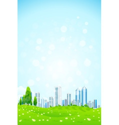 Green landscape with Trees City vector image vector image