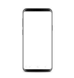 Modern frameless smartphone isolated on white vector