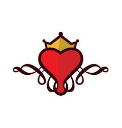 Queen heart vector