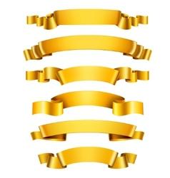 Realistic golden ribbons vector