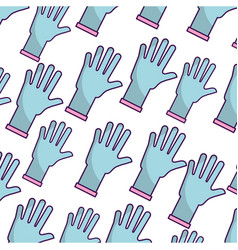 Rubber gloves pattern background vector